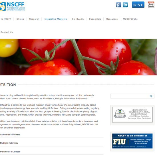 NSCFF website design