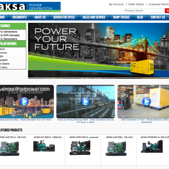 JAT Power Web site design